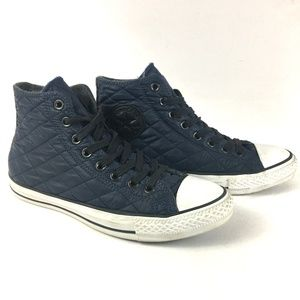 Converse Chuck Taylor Navy Blue Quilted High Tops